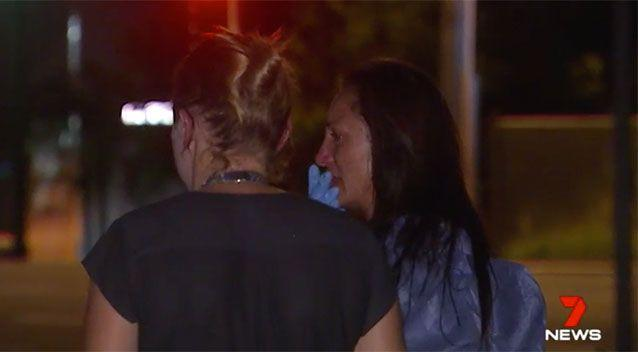 Paania Lawrence (right) is questioned over the shooting death of her partner. Source: 7 News