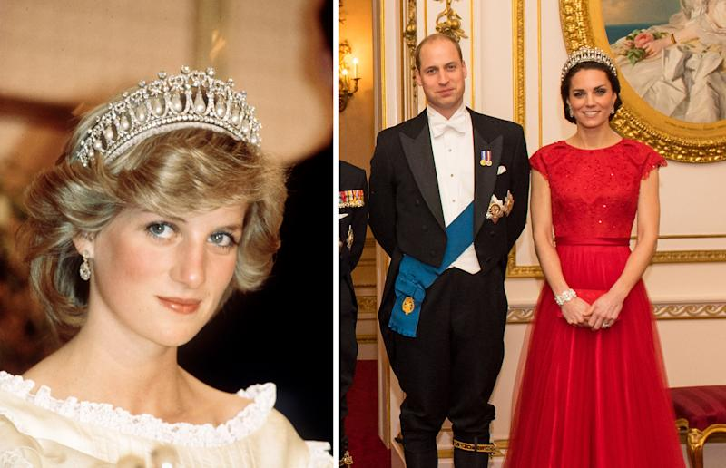 Kate has taken to wearing Diana's iconic tiara.