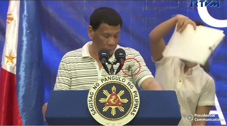 Philippine President, Rodrigo Duterte, Philippine President cockroach, cockroach on Philippine President, live speech blooper, viral video, funny news, indian express