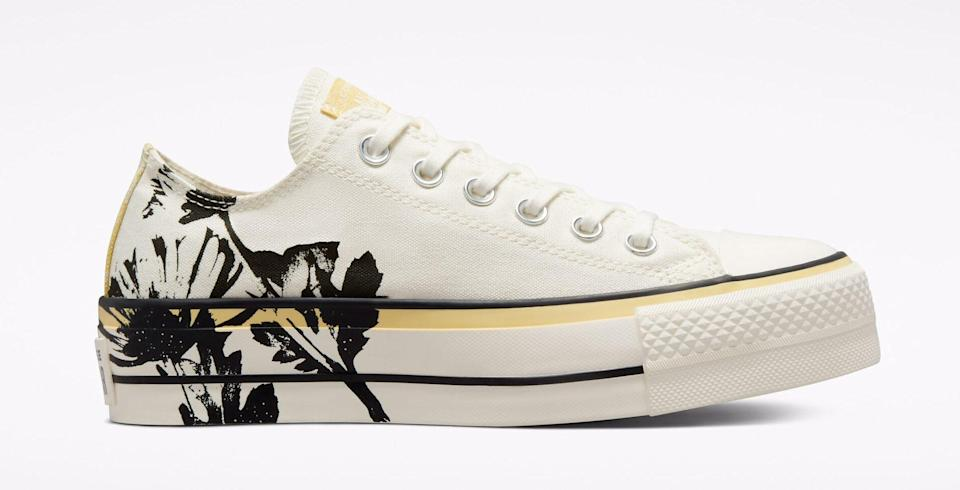 """The Converse Chuck Taylor All Star Platform """"Hybrid Floral."""" - Credit: Courtesy of Converse"""