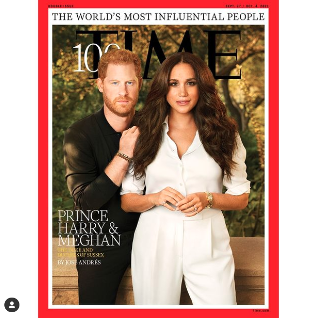Prince Harry and Meghan Markle on the cover of Time magazine
