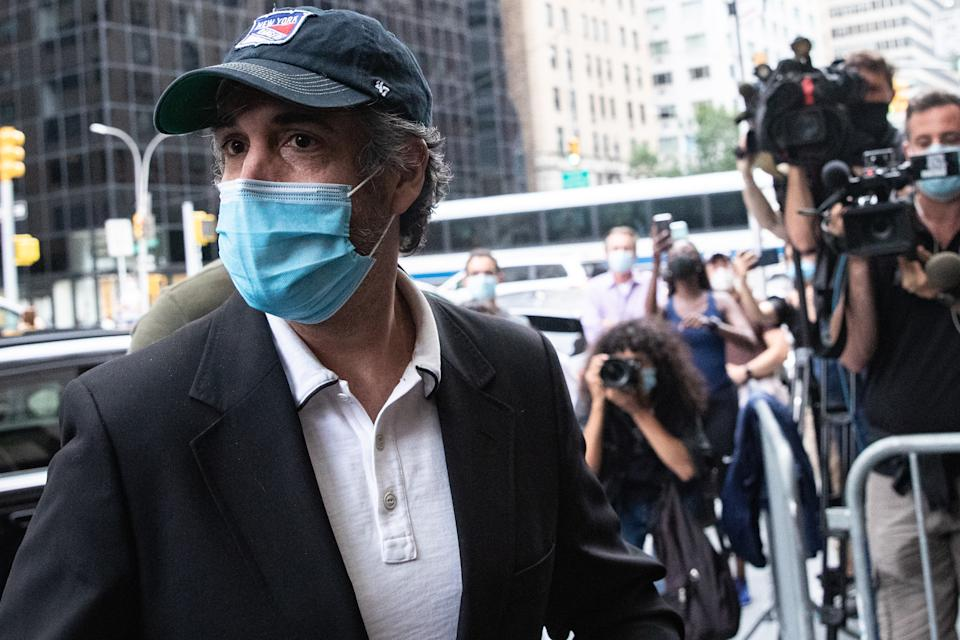 Michael Cohen after being released from federal prison on July 24, 2020. Source: Getty