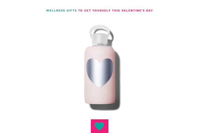 "<p>What's Valentine's Day without a few hearts? Keep the heart theme year-round with a chic heart water bottle. $40, <a href=""https://mybkr.com/collections/pinks/products/silver-tutu-heart-500-ml"" rel=""nofollow noopener"" target=""_blank"" data-ylk=""slk:bkr"" class=""link rapid-noclick-resp"">bkr</a>. </p>"