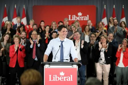 Canada's PM Trudeau addresses Liberal Party candidates in Ottawa