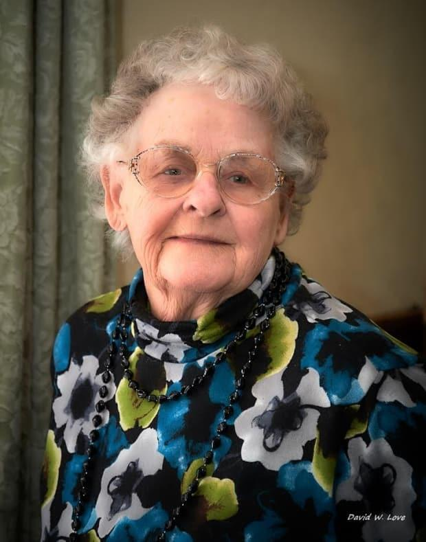 Eleanor Love received a letter from the Women's Institute Home in Woodstock last month that the facility was closing and she had to move out before June 1. (David Love/Submitted - image credit)