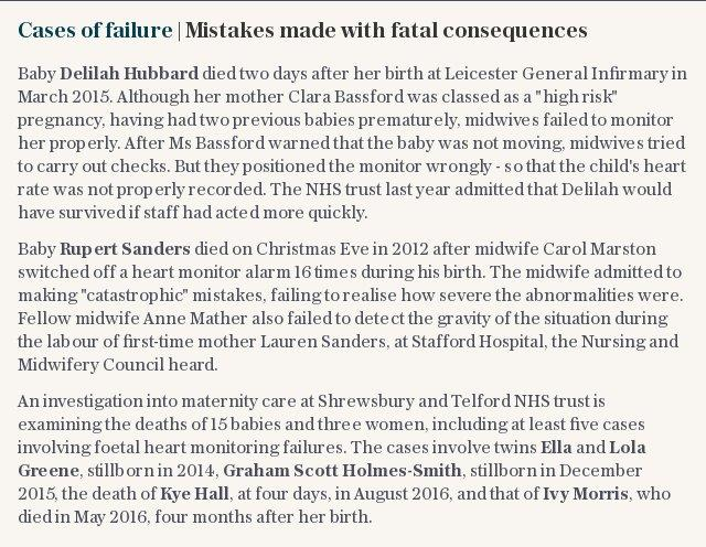 Cases of failure | Mistakes made with fatal consequences