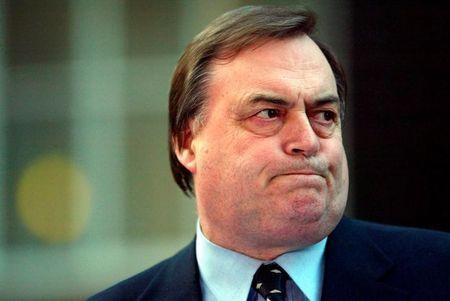 Britain's Deputy Prime Minister John Prescott is pictured in Downing Street in London