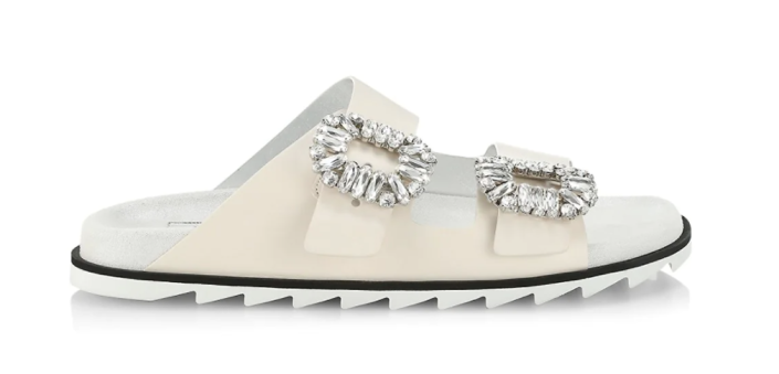"""<p><strong>Roger Vivier </strong></p><p>saksfifthavenue.com</p><p><strong>$1325.00</strong></p><p><a href=""""https://go.redirectingat.com?id=74968X1596630&url=https%3A%2F%2Fwww.saksfifthavenue.com%2Fproduct%2Froger-vivier-slidy-viv-strass-leather-slides-0400013403008.html&sref=https%3A%2F%2Fwww.harpersbazaar.com%2Ffashion%2Ftrends%2Fg4447%2Fluxury-gifts-for-women%2F"""" rel=""""nofollow noopener"""" target=""""_blank"""" data-ylk=""""slk:Shop Now"""" class=""""link rapid-noclick-resp"""">Shop Now</a></p><p>They're called vacation slippers, in case you didn't know.</p>"""