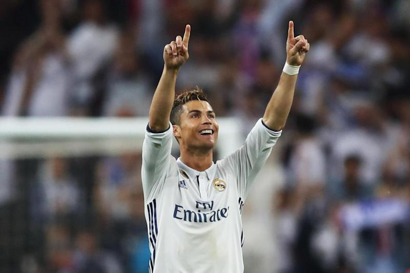 Hat-trick hero: Cristiano Ronaldo stole the show at the Bernabeu (Getty Images)