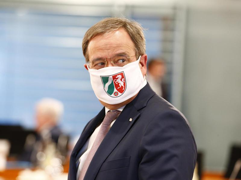 Nordrhein-Westfalen M.P. Armin Laschet, arrives for a meeting of German Federal State Premiers at the Chancellery in Berlin, Germany, 17 June 2020: EPA