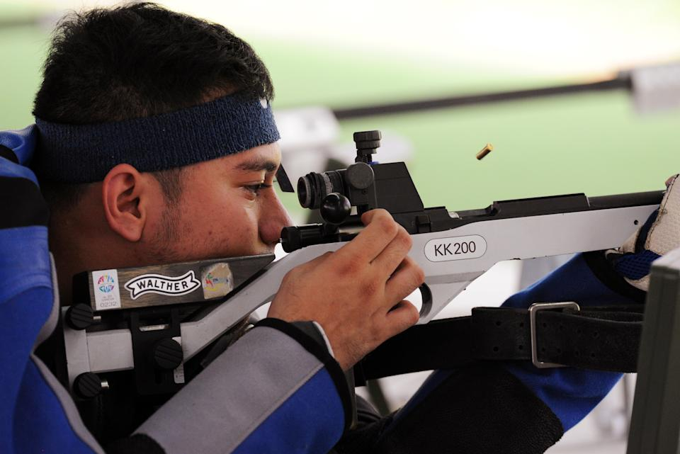 28th SEA Games Singapore 2015 - National Shooting Centre, Singapore - 9/6/15   Shooting - Men's 50m Rifle Prone - Philippines' Valdez Jayson in action  SEAGAMES28  Mandatory Credit: Singapore SEA Games Organising Committee / Action Images via Reuters