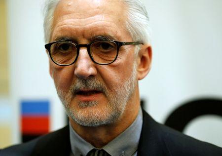FILE PHOTO: Britain's Brian Cookson, President of International Cycling Union (UCI) attends a media event on motor detection in Aigle, Switzerland May 3, 2016. REUTERS/Denis Balibouse   Picture Supplied by Action Images