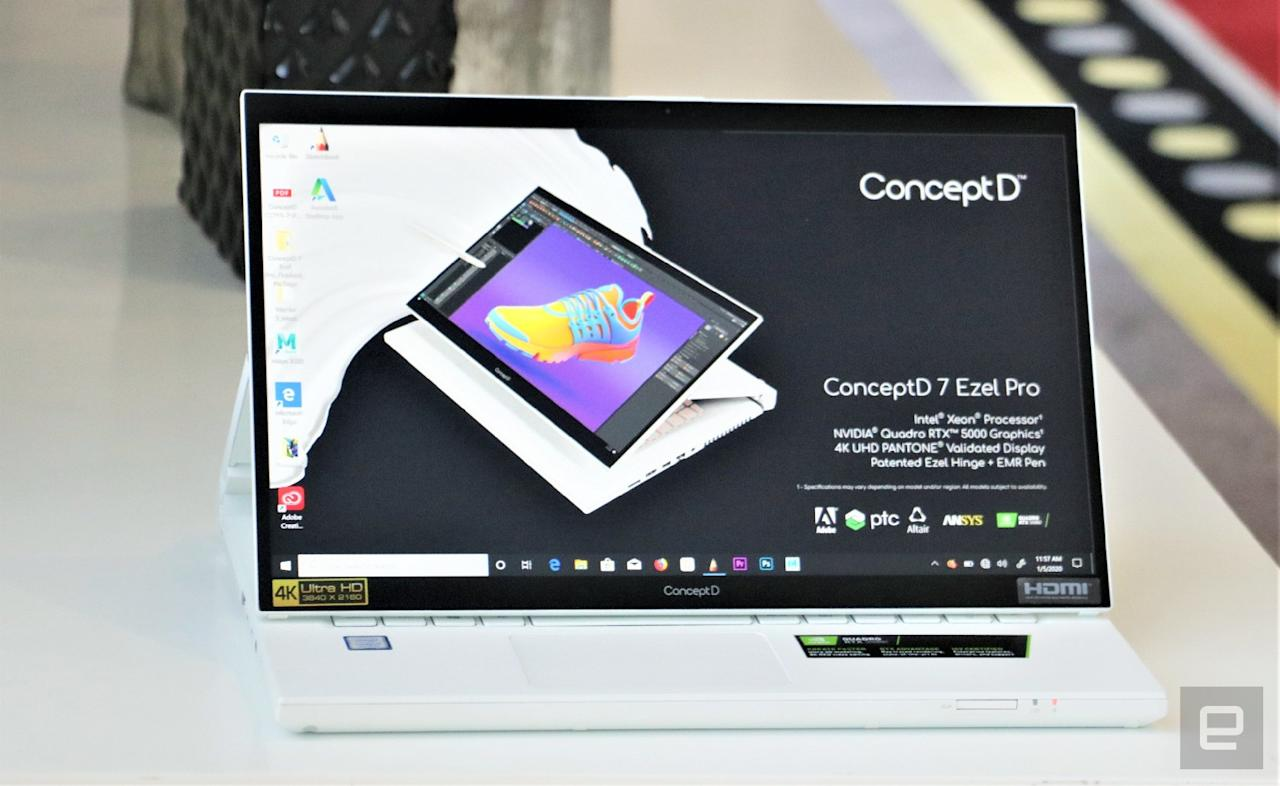 Acer ConceptD 7 Ezel Pro hands-on at CES 2020