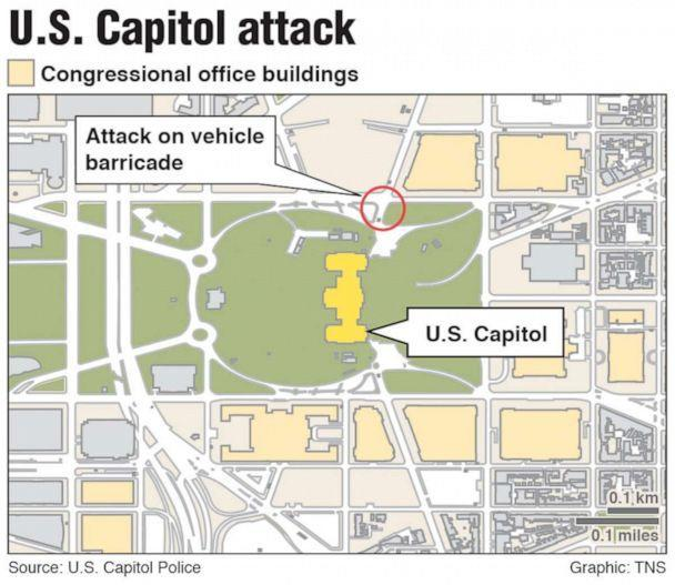 PHOTO: Map of the U.S. Capitol attack in Washington on April 2, 2021. (Davis/TNS)