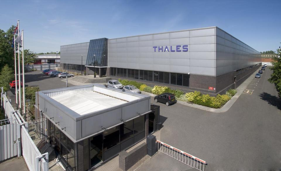 The Thales factory site in Belfast