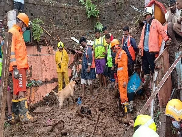 A visual of the ongoing rescue operations in Chembur area. (Photo/ANI)