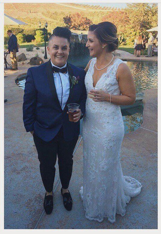 """My wife and I just got married on Oct. 21 in Livermore, California. We were planning on getting married in Napa and just 10 days before, the fires forced us to relocate. We were heartbroken. We had people coming from all over the country and we didn't want to postpone. The amazing people at <a href=""https://www.purpleorchid.com/about/"" target=""_blank"">The Purple Orchid</a> saved the day with just a week to spare. We reorganized with their help and it made for an perfect day. We feel so blessed and were thrilled that our wedding dreams came true."" -- <i>Beth DeLuca</i>"