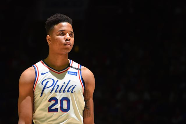"After a nearly lost rookie season, <a class=""link rapid-noclick-resp"" href=""/nba/players/5763/"" data-ylk=""slk:Markelle Fultz"">Markelle Fultz</a> is looking to rebuild his shot and his confidence this summer. (Getty)"