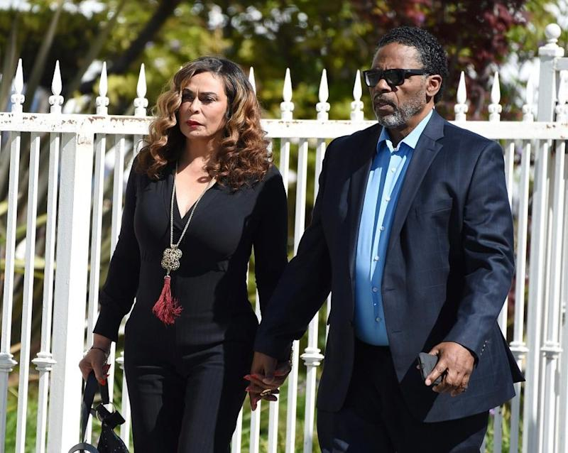 Tina Knowles and Richard Lawson | Chris Pizzello/AP/Shutterstock