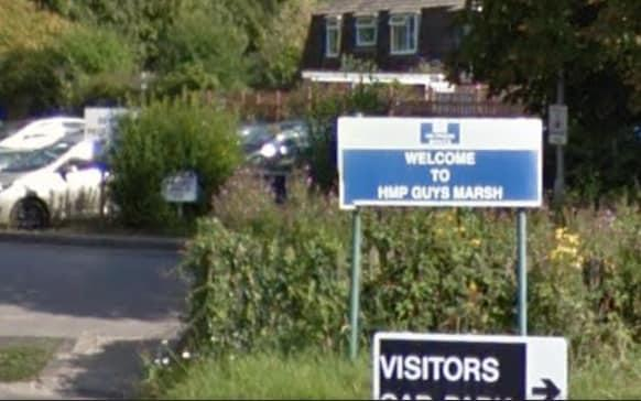 The fire happened at HMP Guys Marsh, near Shaftesbury, in Dorset - Google