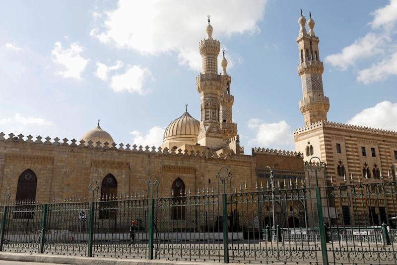 A view of the closed Al-Azhar mosque during Eid al-Fitr, a Muslim festival marking the end of the holy fasting month of Ramadan, amid concerns about the spread of the coronavirus disease (COVID-19), in Cairo, Egypt, May 24, 2020.
