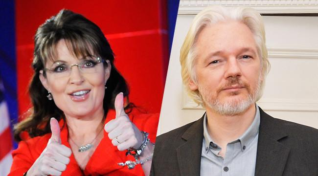 Sarah Palin Takes Back All The Bad Things She Said About Julian Assange, Wants Everyone To See 'Snowden'