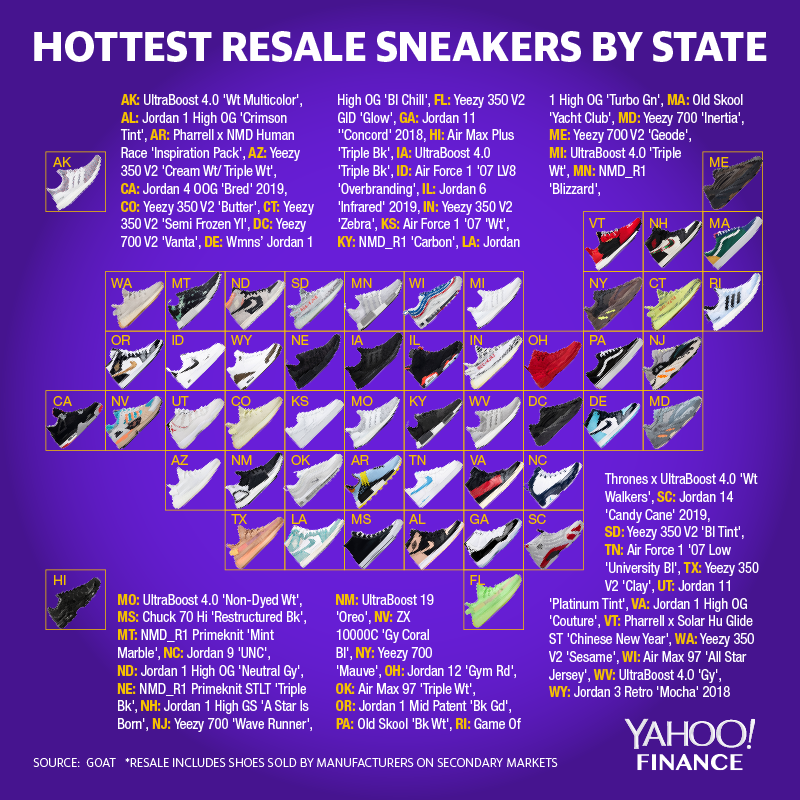 2030f986 The hottest resale sneakers by state