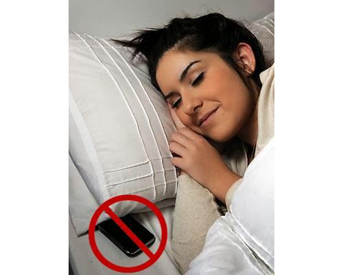 Phone tucked under a pillow