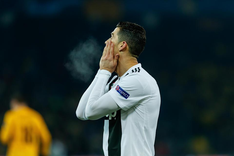 It was a long night in Switzerland for Cristiano Ronaldo and Juventus, which lost 2-1 to Young Boys. (Getty)