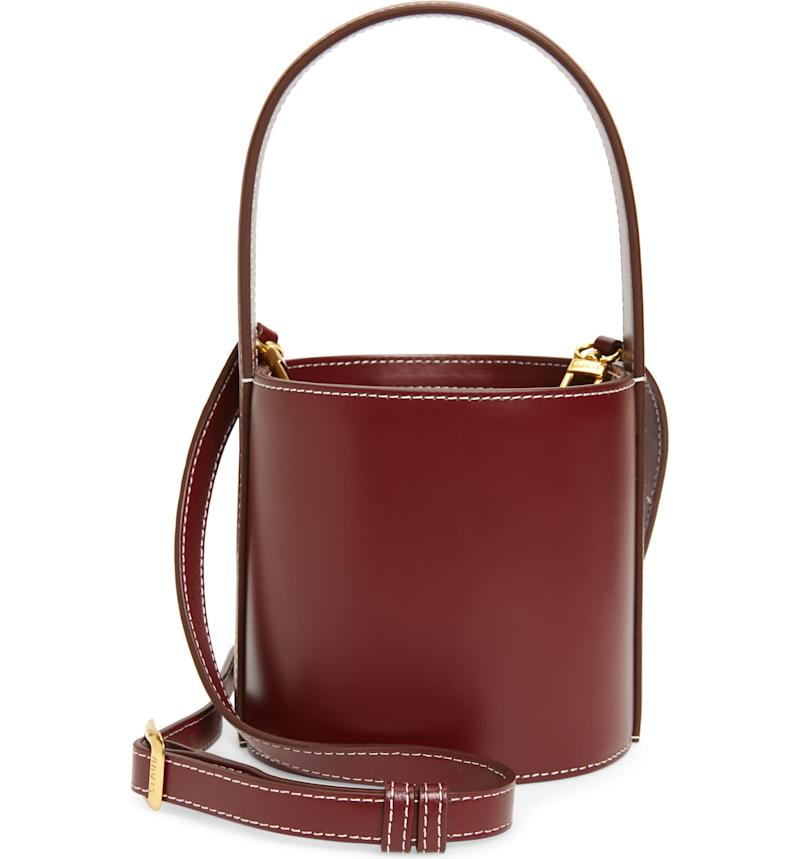 Staud Mini Bissett Leather Bucket Bag. Image via Nordstrom.