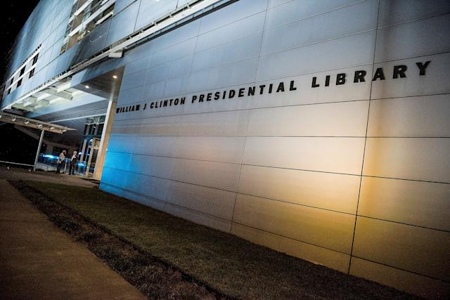 The William J. Clinton Presidential Library building.