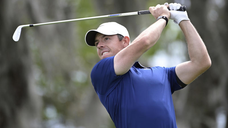 Rory McIlroy, of Northern Ireland, watches his tee shot on the second hole during the final round of the Arnold Palmer Invitational golf tournament, Sunday, March 8, 2020, in Orlando, Fla. (AP Photo/Phelan M. Ebenhack)