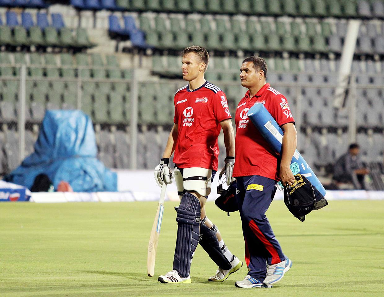 Delhi Daredevils player Johan Botha during a nets session at the Wankhede Stadium in Mumbai on 8 April 2013. (Yogen Shah)