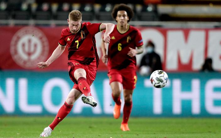 Kevin De Bruyne of Belgium during the UEFA Nations league match between Belgium v England at the King Baudouin Stadium on November 15, 2020 - GETTY IMAGES