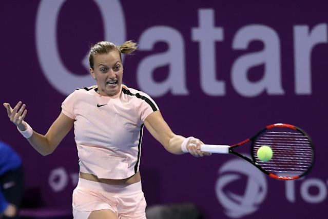 Petra Kvitova has won 17 of her 22 career titles on hard courts (AFP Photo/KARIM JAAFAR)