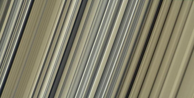 These are the highest-resolution color images of any part of Saturn's rings, to date, showing a portion of the inner-central part of the planet's B Ring.