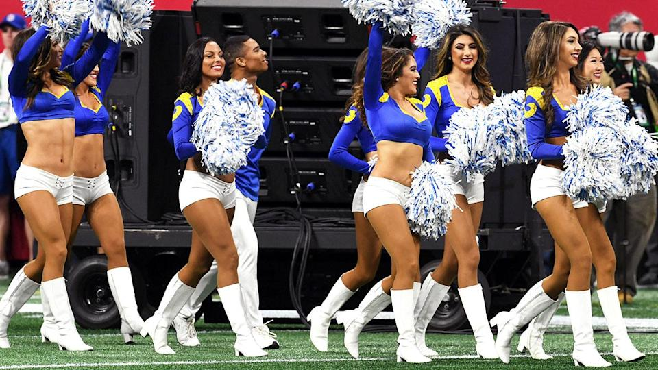 Los Angeles Rams cheerleaders in action. (Photo by Kevin Winter/Getty Images)