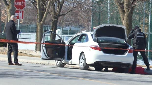 Police discovered the bodies of a couple inside a taxi cab on Friday morning. Investigators believe the man killed the woman before taking his own life. (Radio-Canada - image credit)