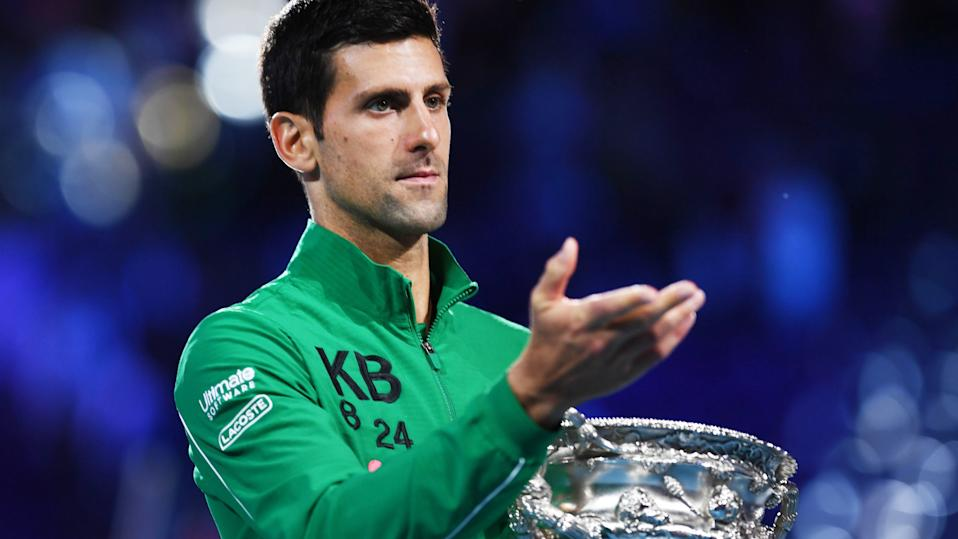 Novak Djokovic is among several top-flight players to voice their intentions to compete at the 2020 Australian Open. (Photo by SAEED KHAN/AFP via Getty Images)