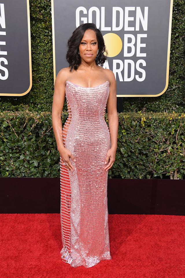 <p>Regina King had two chances to win a trophy Sunday. She was nominated for her turns in both the movie <i>If Beale Street Could Talk</i> and the Netflix limited series <i>Seven Seconds</i>, and she left a winner for the former. (Photo: Getty Images) </p>