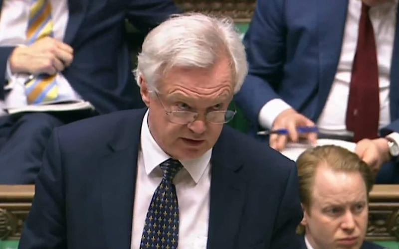 David Davis outlining the Great Repeal Bill White Paper - Credit: AFP
