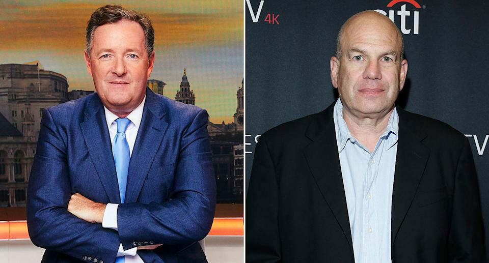 Piers Morgan and The Wire creator David Simon exchanged bitter words on Twitter (ITV/Getty)