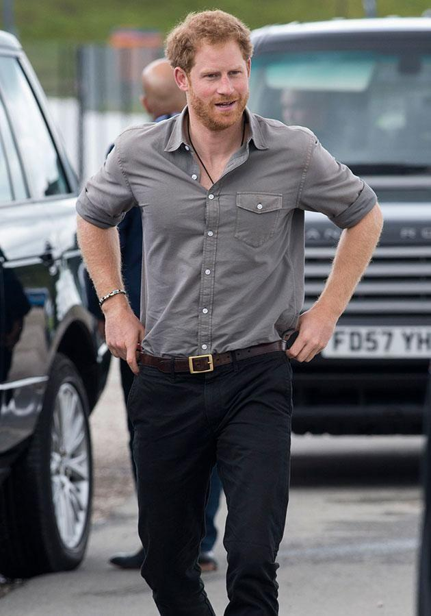 Prince Harry has released a crocodile stuck in a trap.