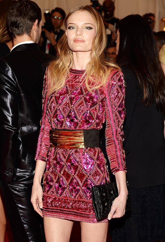 """NEW YORK, NY - MAY 06:  Kate Bosworth attends the Costume Institute Gala for the """"PUNK: Chaos to Couture"""" exhibition at the Metropolitan Museum of Art on May 6, 2013 in New York City.  (Photo by Dimitrios Kambouris/Getty Images)"""