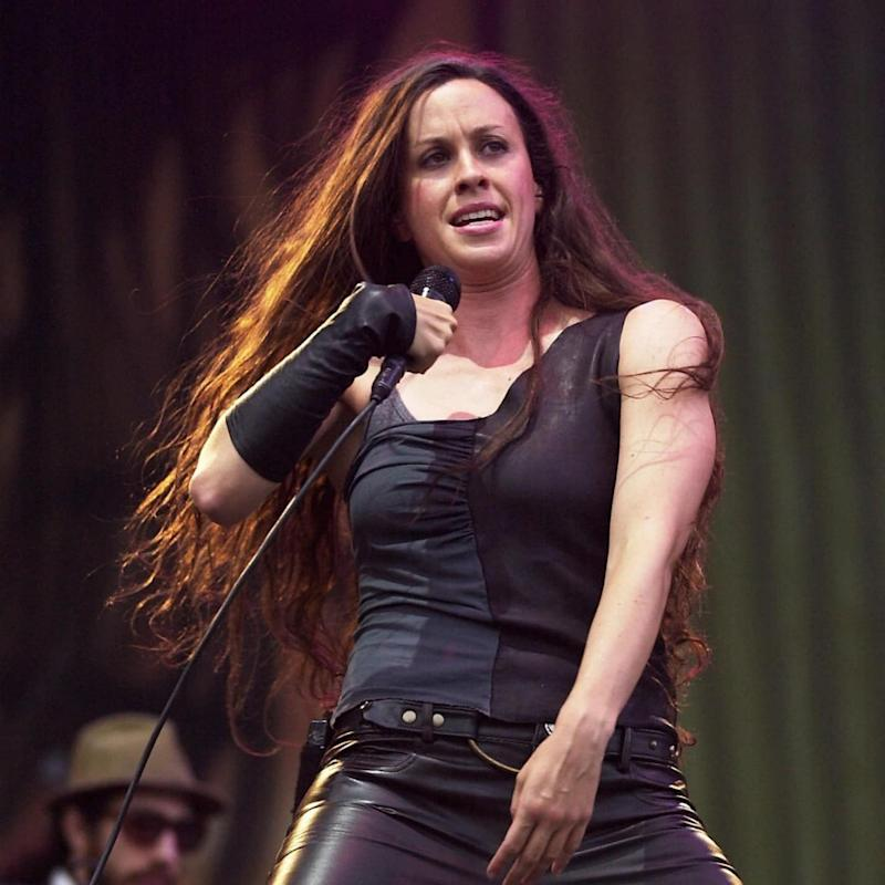 Morissette on stage in 2002 - Getty