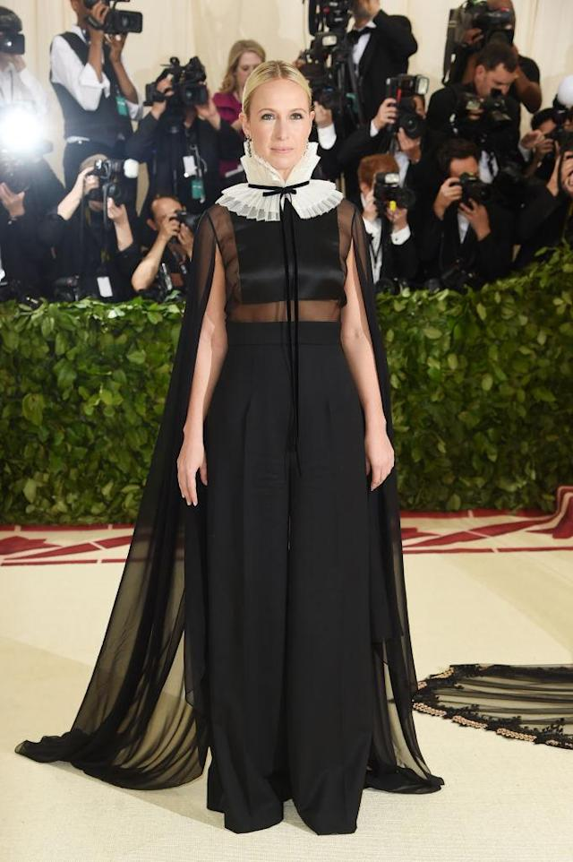 <p>Misha Nonoo attends the Heavenly Bodies: Fashion & The Catholic Imagination Costume Institute Gala at The Metropolitan Museum of Art on May 7, 2018 in New York City. (Photo: Getty Images) </p>