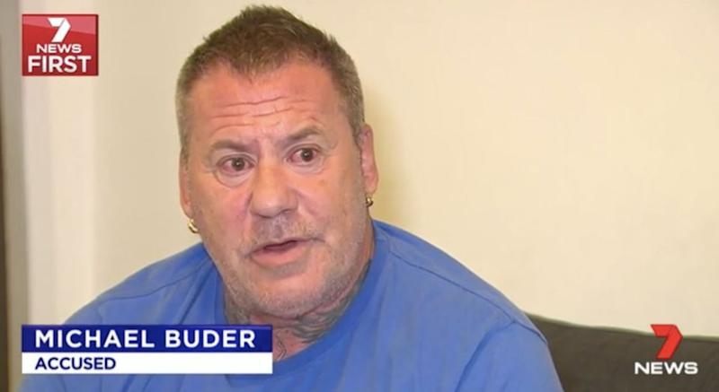 Michael Buder says he thought the lights in the sky belonged to a drone. Source: 7 News