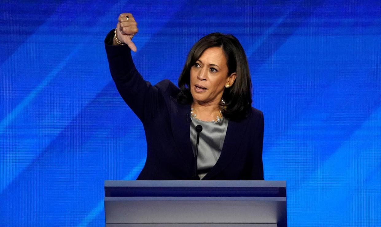 Sen. Kamala Harris at the Democratic debate in Houston on Sept. 12. (Photo: Mike Blake/Reuters)