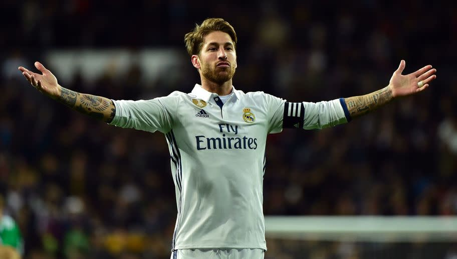 <p>Perhaps the strangest choice in the team, Ramos has become a cult icon at Real Madrid due to his knack of bailing the team out of jail with late goals.</p> <br /><p>The Spaniard has enjoyed a fruitful career both domestically and internationally, however, his defensive capabilities and temperament have come under scrutiny various times.</p>