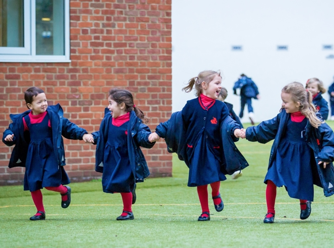 <p>The school believes that having one best friend will only lead to upset. Instead, they teach children to have lots of good friends.<br /><i>[Photo: Thomas's]</i> </p>
